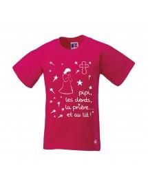BERNADETTE PYJAMA Tee-shirt fille catholique authentique avant d'aller dormir