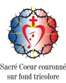 MAYEUL Chemise blanche homme catholique sacré cœur couronné tricolore